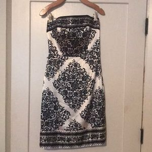 White Black Market Formal dress
